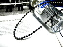 Silver & Onyx beads bound chain Onyx necklace オニキスネックレス celebrity (exile arashi, EXILE) men's accessories necklace silver Silver 925 silver silver925