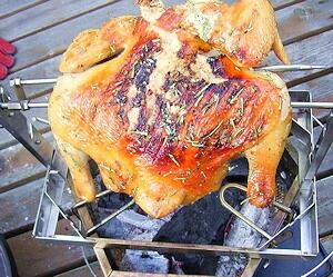 塊の肉を豪快に焼いて食べましょう!