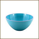 /5P13oct13_b made in colorful BIC ball blue approximately 20cm in diameter ◆ / / range OK/ bowl / ball / salad bowl / salad bowl / size grain / kitchen / kitchen goods / kitchen miscellaneous goods / kitchen article / preliminary arrangements / miscellaneous goods / lacquerware / Japan for dishwasher for microwave oven