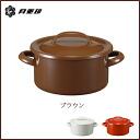 Enameled casserole 19 cm 2. 7 L Brown ◆ IH support /ih 200v response /-rabbit / get / Noda enamel / porcelain enamel / Brown / pots / enameled pot enameled pot / retro / with lid and lid / Japan-05P30Nov13