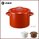 Enameled stew pot 21 cm 5 l red ◆ IH support /ih 200v response /-rabbit / get / Noda enamel / porcelain enamel / red / pots / zundou pot / pot curry / stew pot / enameled Pan / deep / enameled pot / retro / lid / cover with / made in Japan