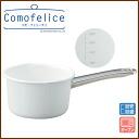 Enamel milk Pan 14 cm ( 1. 2 L ) ★ / como-Felice / white / enamel / saucepan with tick marks