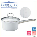 Enamel saucepan 16 cm ( 1. 6 L ) ★ IH support / como-Felice / white / enamel / saucepan / 5P13oct13_b / calibrated / with part