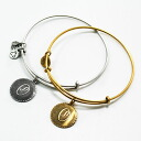 Alex & ALEX AND ANI ANI initials plates recycled brass wire Bangle gold / silver-alex &ani