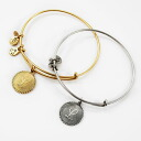 ALEX AND ANI アレックスアンドアニ initials plates recycled brass wire Bangle gold / silver alex &ani fs3gm