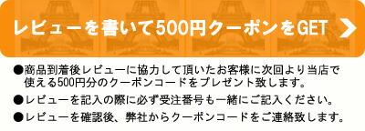 レビューで500円ゲット