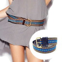 Teaspoon ladies embroidered x-over leather belt BLUEMAITAI DUMP THE DUDE BELT 2013 SS oneteaspoon