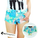 Teaspoon ladies crash denim shorts SPECKLE BONITA tidy art pattern 2013 SS oneteaspoon