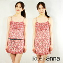 ROSE ANNA Anna flower print シルクシフォンワン piece mini dress with Camisole France-spring-summer fs3gm