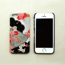 iPhone5/5S cover embroidered silk black
