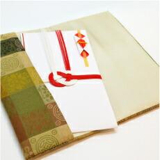 正絹遠州緞子(しょうけんえんしゅうどんす)金封袱紗 キンチャ 商品説明2