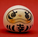 Usaburo Kokeshi happiness Dharma white (Happiness Daruma doll White)