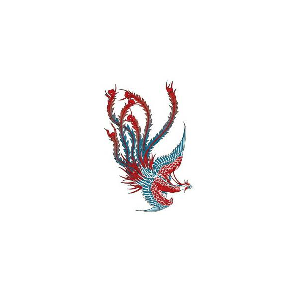 红色凤凰纹身密封 ■ cosplay 服装服装 cosplay 服装科斯纹身密封
