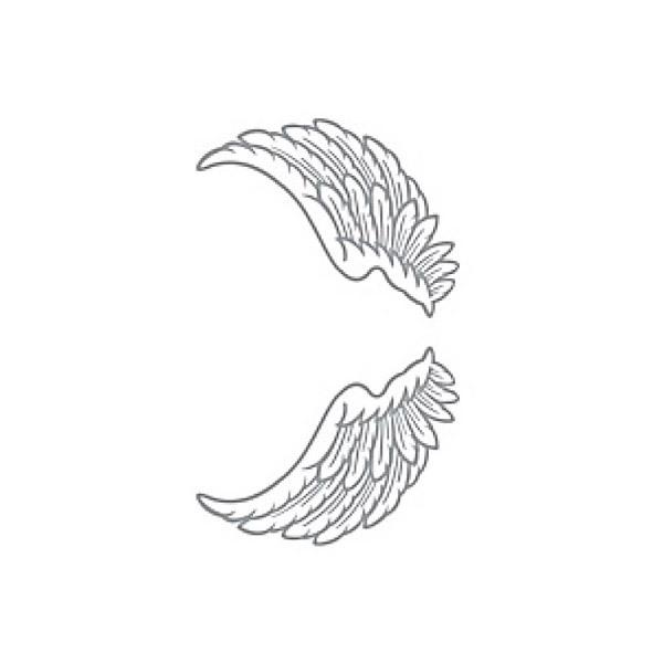 贴纸纹身天使的翅膀和