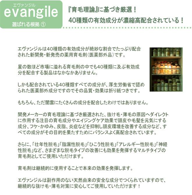 薬用育毛剤 エヴァンジル 13 育毛理論