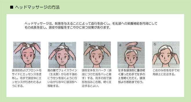 頭皮マッサージの方法