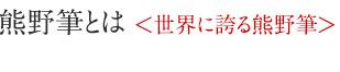 熊野筆とは 世界に誇る熊野筆