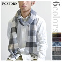 ★ Smartphone in entry points 19 times! Up to 24, 9:59 ♪ Ireland made foxford MUFFLER scarf pattern herringbone Plaid 6 colors