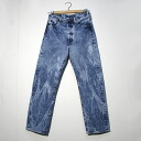 Levi's 501-0000 chemical original button fly jeans BLUE DENIM blue denim wash