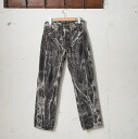 Levis 501-0000 original button fried food jeans BLACK DENIM black denim chemical wash