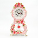Special pink rose table clock (with pendulum)