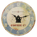 Art Wall-Clock Arabica and cinnamon crusted rock