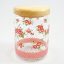Bargain charms garden wood lid canisters (rose)