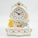 ムーンベアー table clock (white)