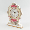 Royal rose table clock (ivory)