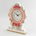 Royal rose table clock (Pink)