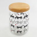 Special cat Lundin wood lid canisters