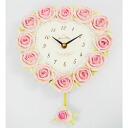 Special price rose heart pendulum clock