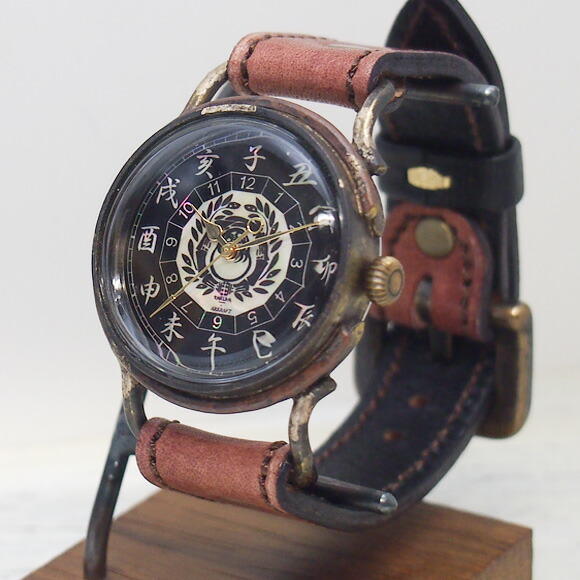 達磨(だるま)手創り腕時計「柿渋」メンズ [DW0001-03]
