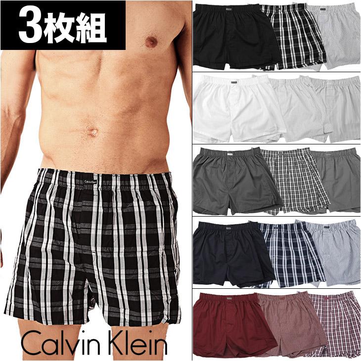 Calvin Klein カルバンクライン 3pack woven メイン画像