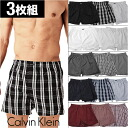 ★ Calvin Klein (Calvin Klein) 3 pack woven shorts ★ men underwear men's pants brand pants CK check stripe Christmas gift cotton 100% mail order P06Dec14
