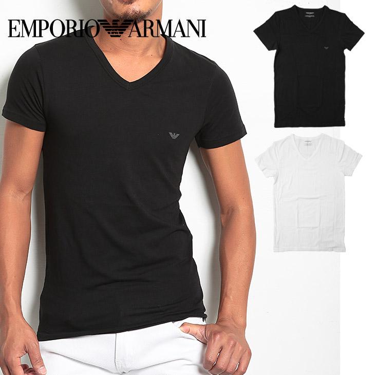 EMPORIO ARMANI エンポリオアルマーニ STRETCH COTTON cc718 Vネック Tシャツ メイン画像