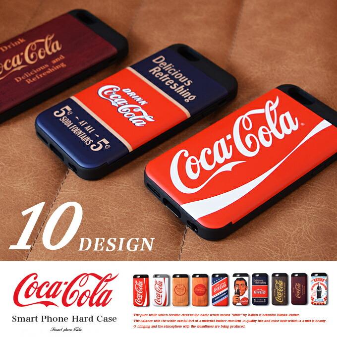 コカ・コーラ ハードシリコンケース ミラー付■ iPhone6 6s iPhone7 iPhone6PLIS iPhone7PLUS GalaxyS7edge CocaCola デザインケース スマホ ケース カバー ( スマホアクセサリ )