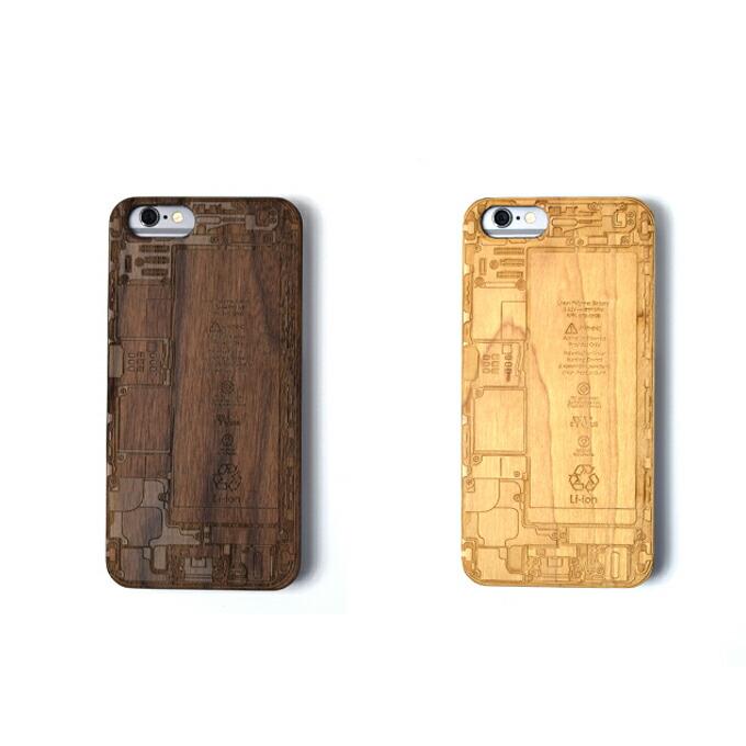 iPhone6 木製iPhoneケース■基盤デザインレーザー加工 木製ケースiPhone6専用ハードケース 天然木材 iPhoneケース スマホケース ナチュラル ウッド 自然