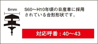 PIAA ★ Super Graphite雨用雨刷専用替換橡膠 500 mm