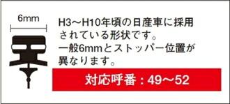 PIAA ★ Super Graphite雨用雨刷専用替換橡膠 525 mm