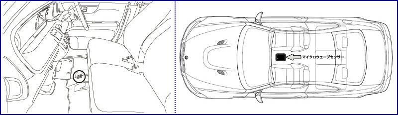 汽车内部手绘俯视图