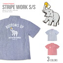 Large CRIMINAL ORIGINAL STRIPE WORK SHIRTS criminal original ストライプワーク shirt elephants drink US sizes men's size L LL 2 l 3 l 4 l 5 l