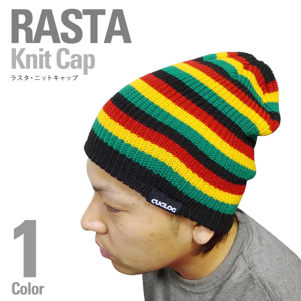 CRIMINAL Rakuten Global Market: CUGLOG knit KNIT CAP long Rasta color Beani...