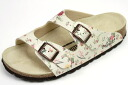 Birkenstock papirio kids Sandals Nevada flower pattern beige ( Pattern of the Flower of Nevada Kids BIRKENSTOCK Papillio Beige )