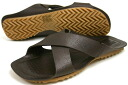 Terrorism leather sandals dark brown (BUTTERO B1858 PE - PAL T.MORO)