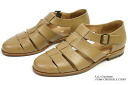 フラテッリジャコメッティイノシシ leather Gurkha sandals light brown (F.lli Giacometti FG166 CINGHIALE CUOIO)