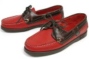 Paraboot shoes deck bath red x American ( Paraboot BARTH MARRON-LIS CERISE/AMERICA )
