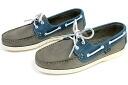 Paraboot shoes deck bath nubuck gray × blue ( Paraboot BARTH BLANCHE-NUB GRIS/BLEU )