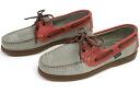 Paraboot shoes deck bath nubuck grey x Rouge ( Paraboot BARTH MIEL-NUB GRIS/ROUGE )