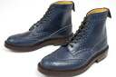 Trickers country ウィングチップブローグ boots Parisian-blue-Cavalier ダイナイトソール ( BLUE Boots PARISIAN, Tricker's m2508 Brogue CAVALIER )